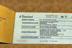 Disneyland E-Ticket coupon