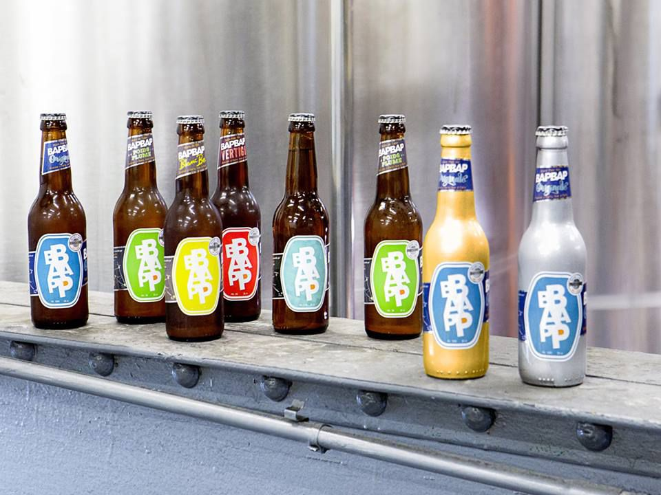 Colorful bottles of craft beer from Parisian microbrewery BAPBAP