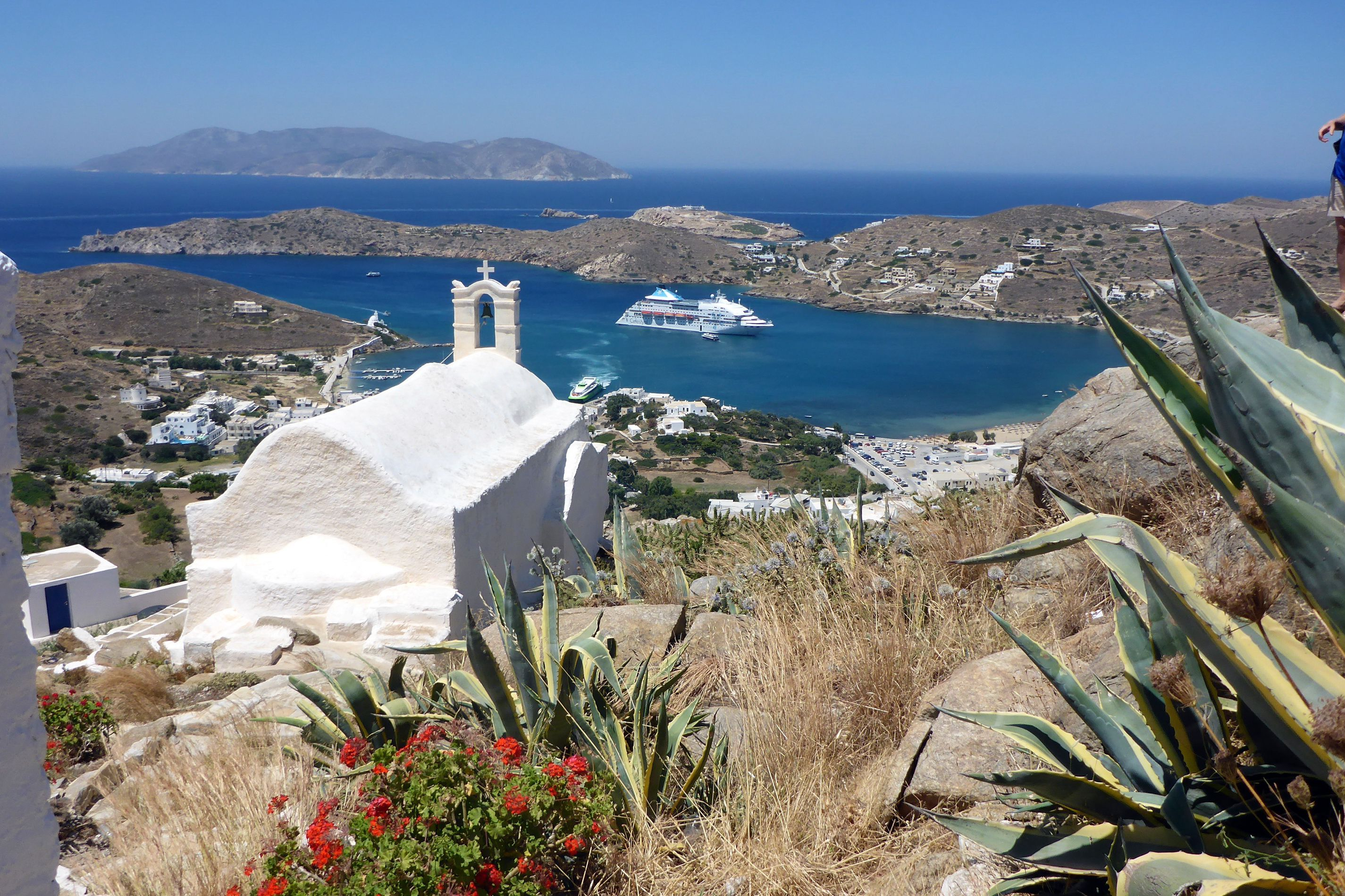 Harbor view on Greek island of Ios
