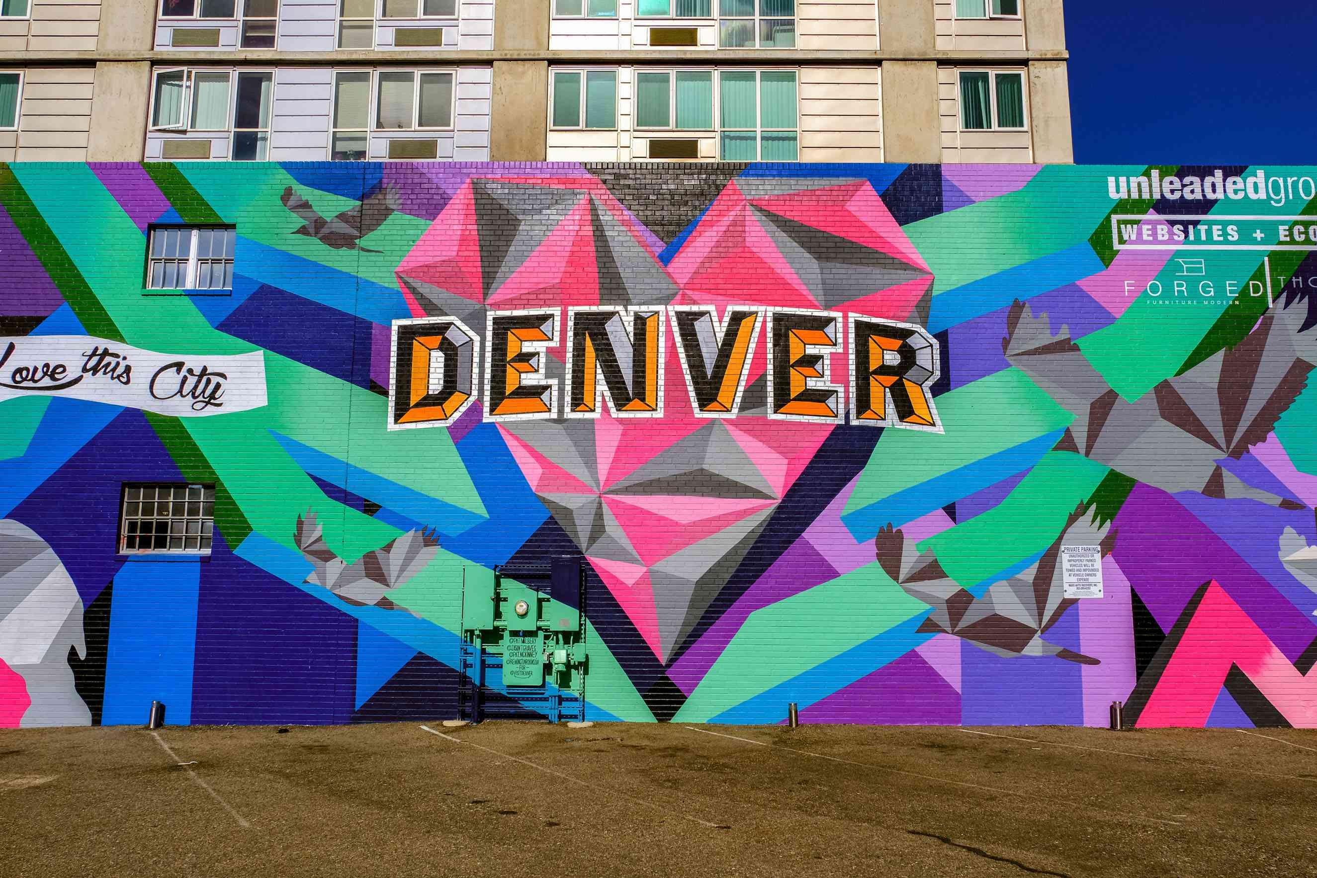 A street art mural with