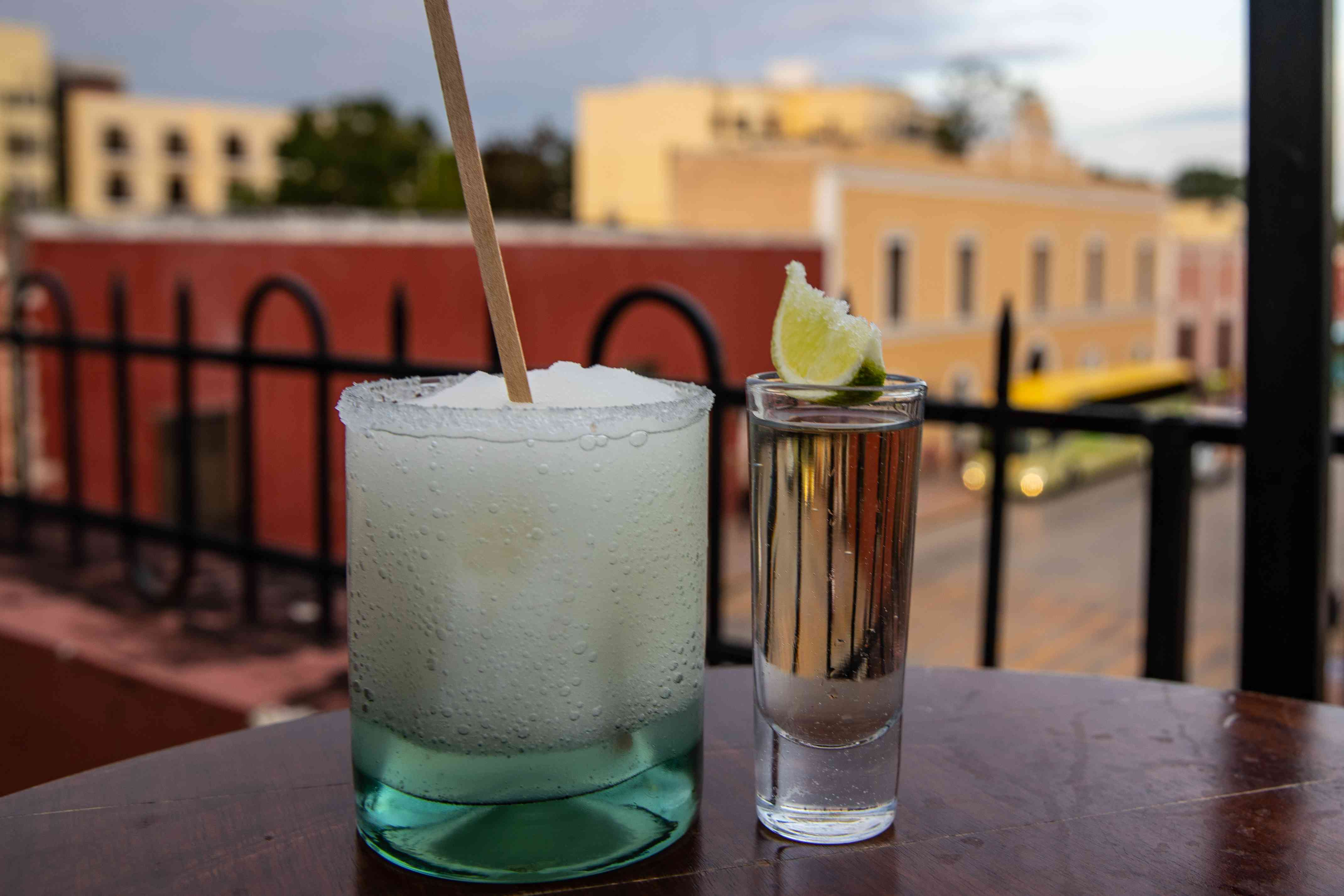 Tequila and a cocktail
