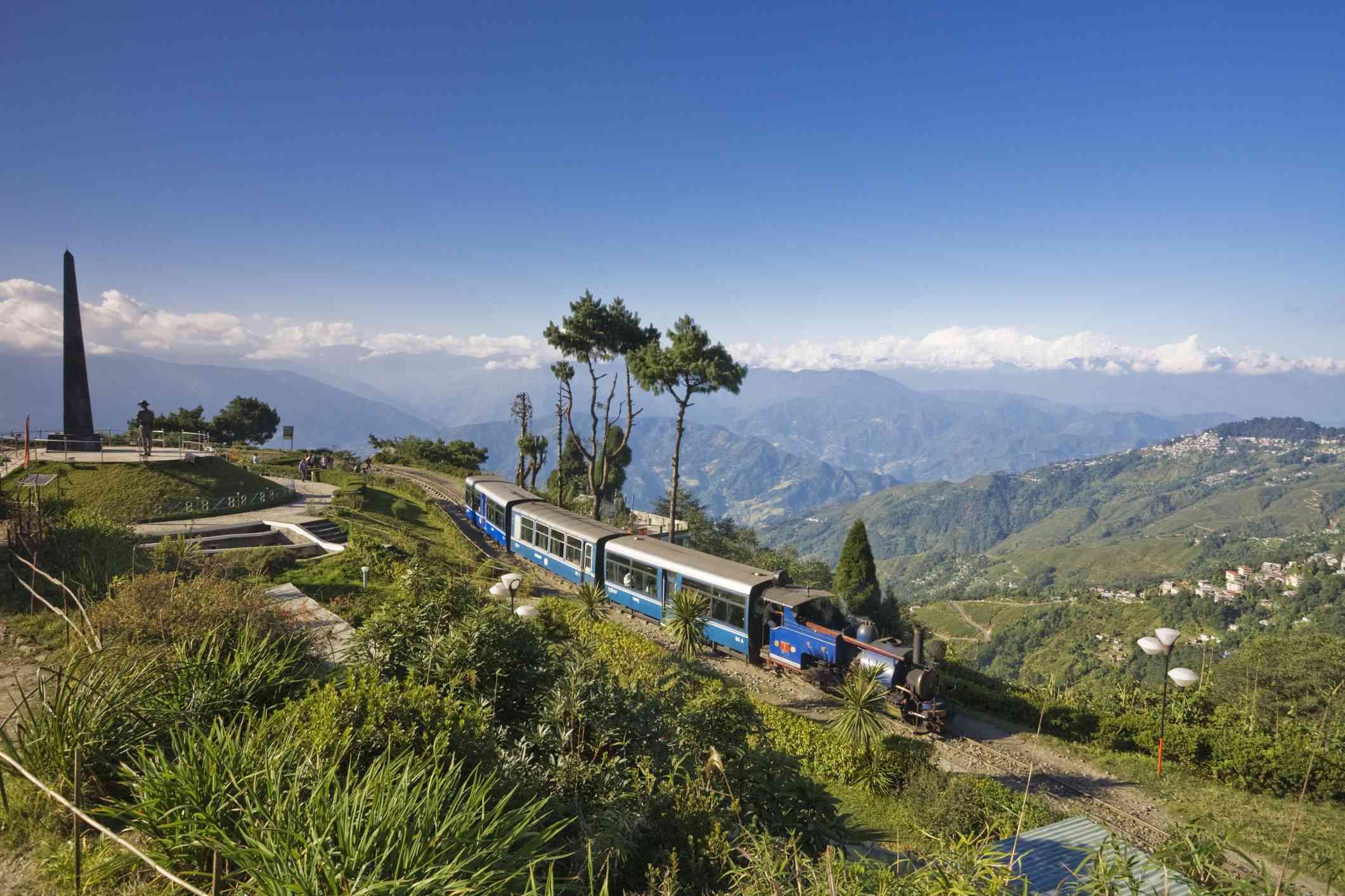 Batasia Loop, Steam Toy Train of the Darjeeling Himalayan Railway.