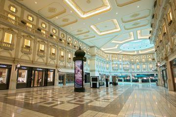 Interior of upmarket Villaggio shopping mall in Doha Qatar.