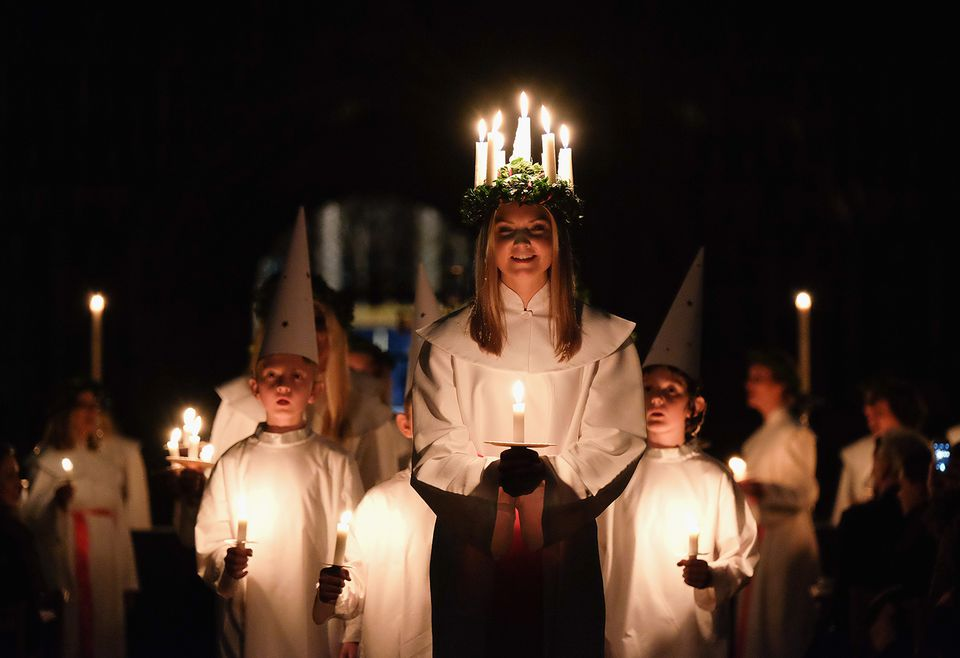 The Annual Sankta Lucia Festival Of Light