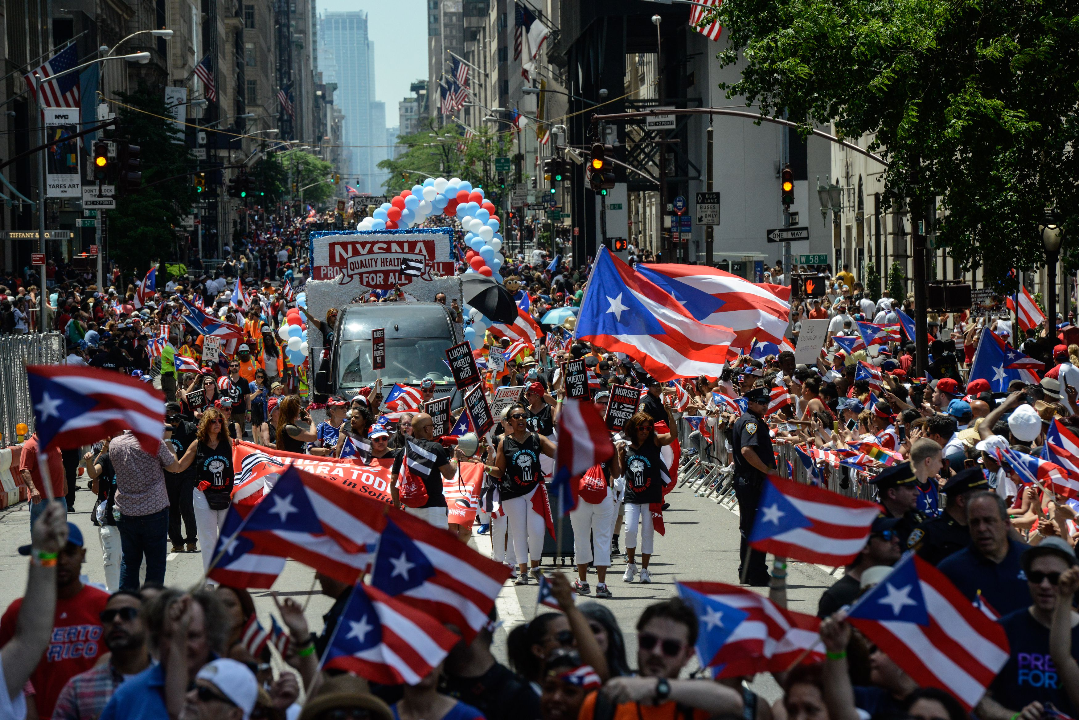 Annual Puerto Rican Day Parade Marches Up New York's Fifth Avenue