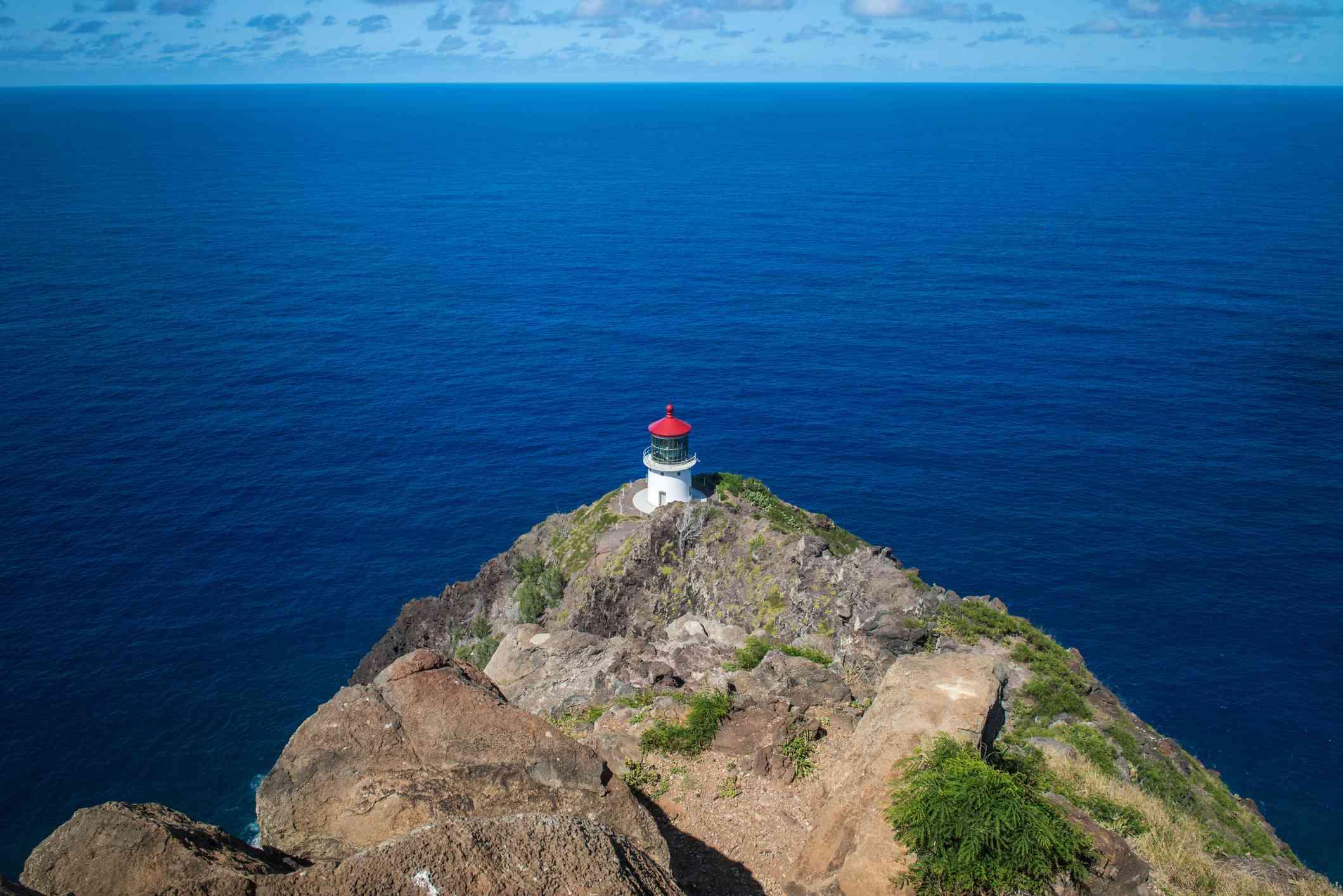 Makapuu Lighthouse off the trail on Oahu, Hawaii