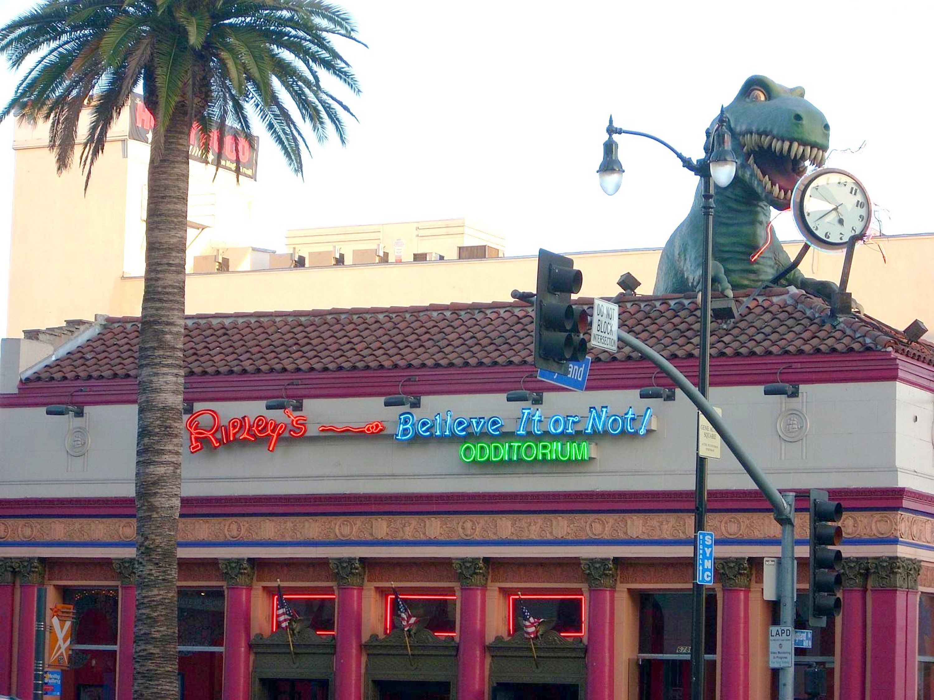 Exterior of Ripley's Believe It or Not! Odditorium on Hollywood Boulevard