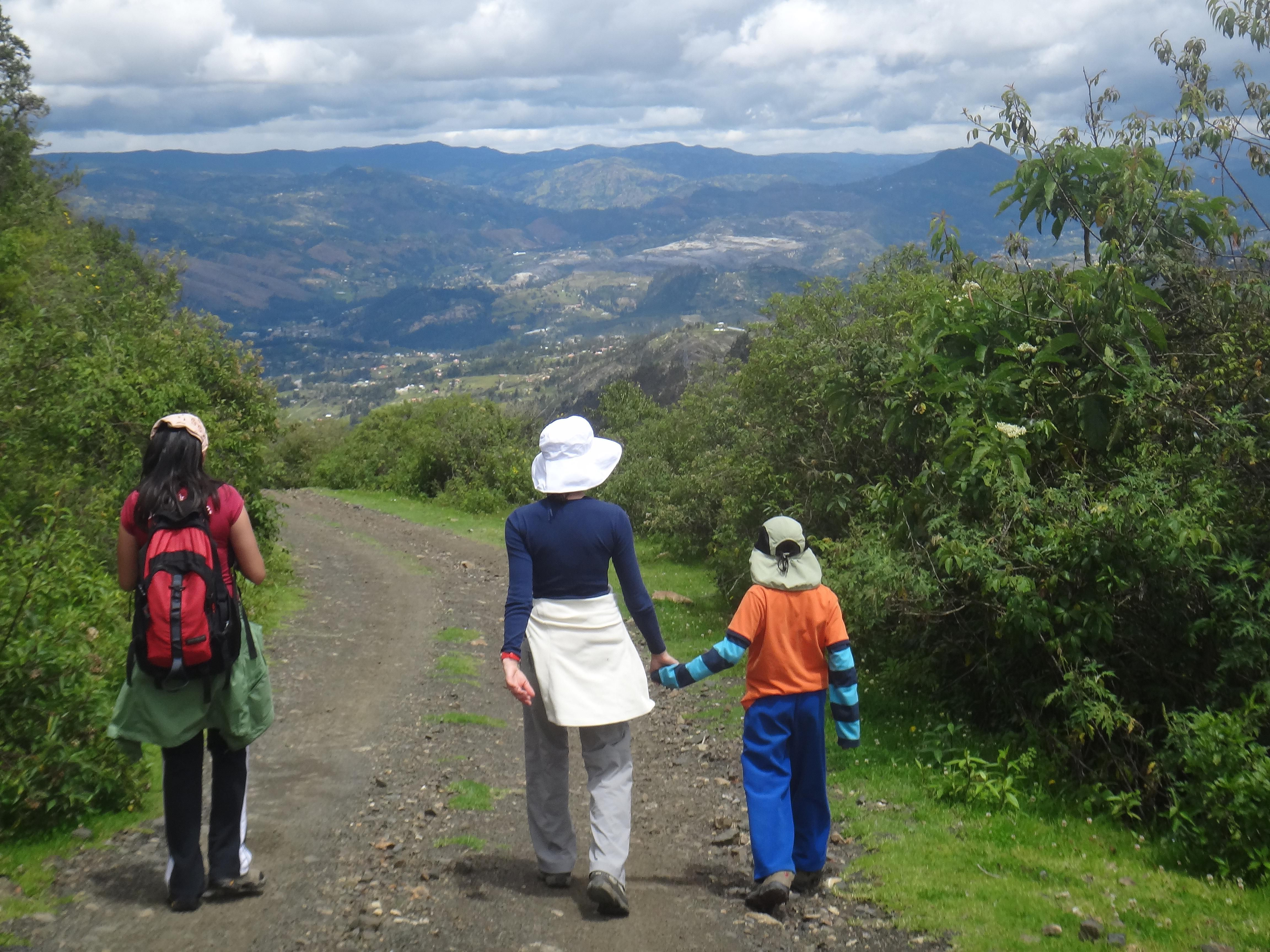 Walking in the Ecuadorian Andes on a Thomson Family Adventures vacation
