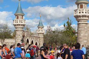 The entrance to New Fantasyland at the Magic Kingdom.