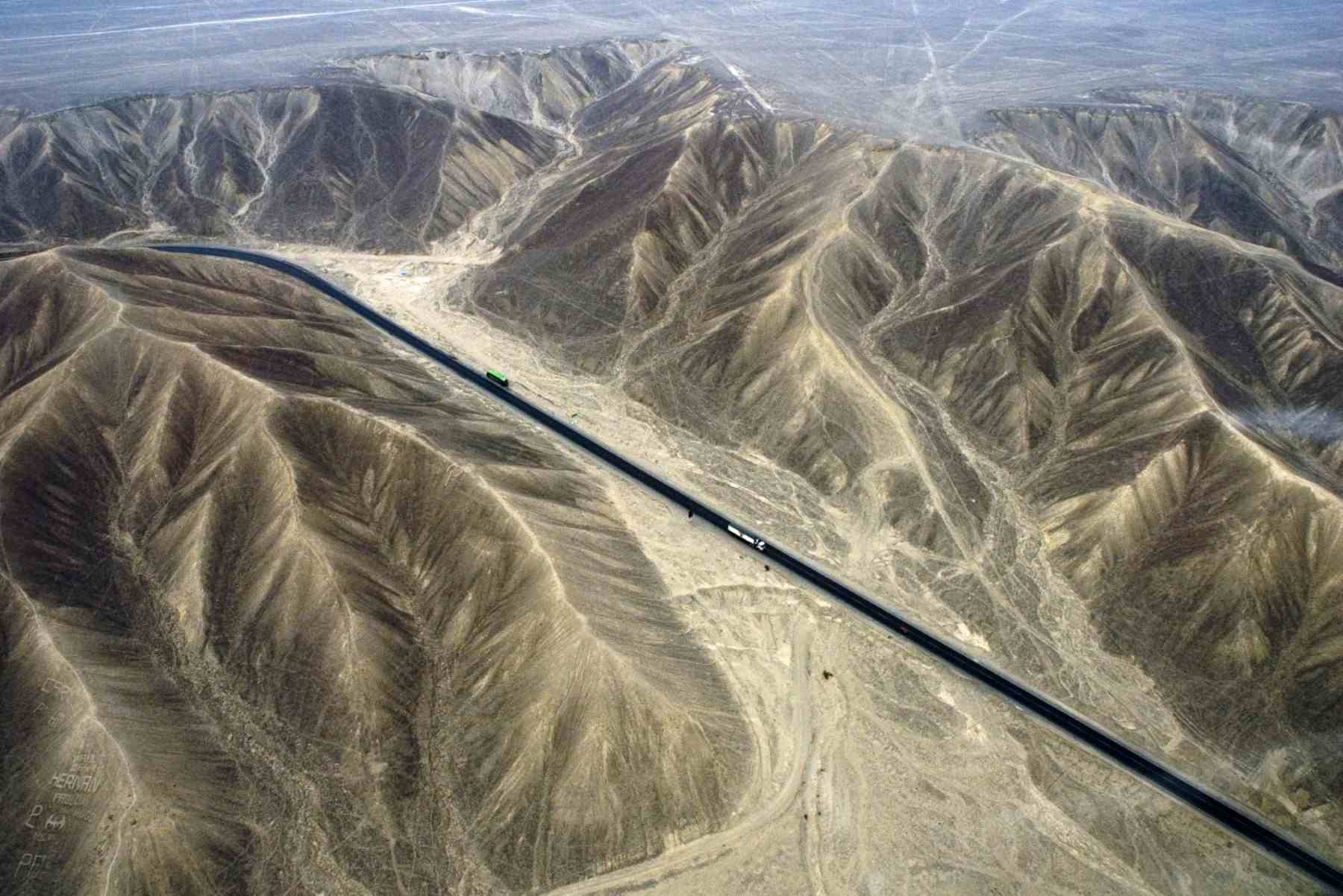 Pan American Highway and Nazca Desert