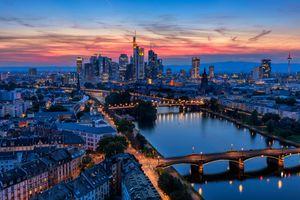Frankfurt am Main Skyline at Dusk