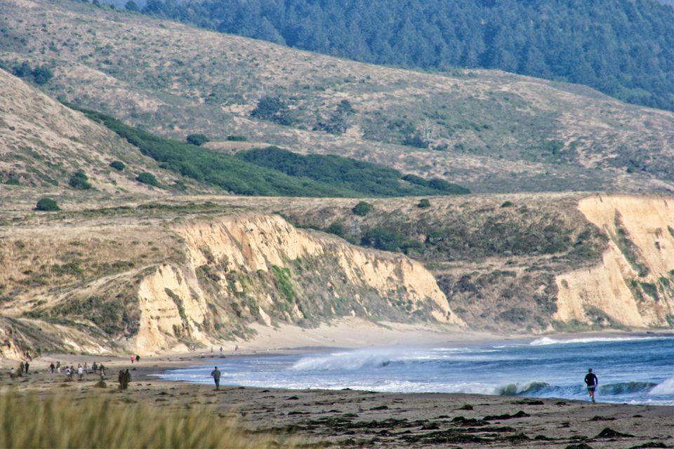 Vista de la playa de Limantour