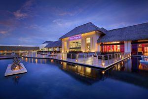 Evening view near the pool at Hard Rock Hotel & Casino Punta Cana