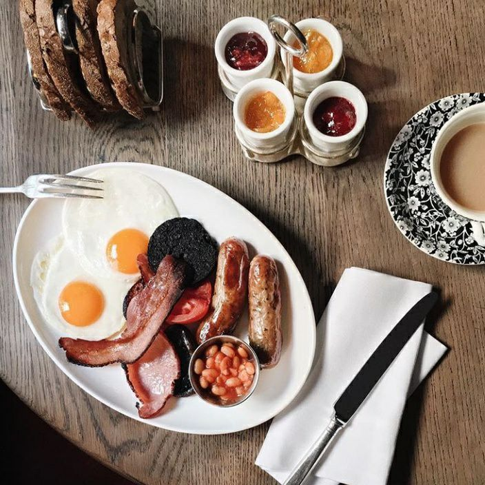 Dean Street Townhouse traditional English breakfast