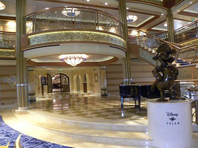 Disney Dream Atrium Lobby and Entrance to Royal Palace Restaurant