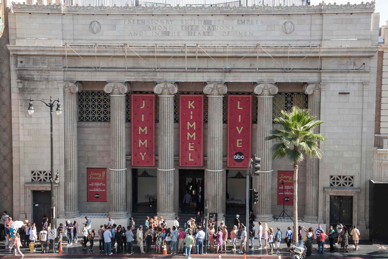 Jimmy Kimmel Live! En el Disney Entertainment Center en Hollywood