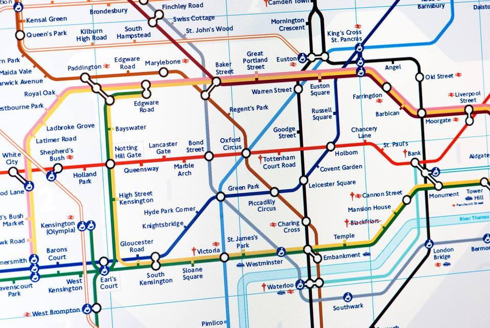 Map Of London Underground System.London Underground Tips You Should Know