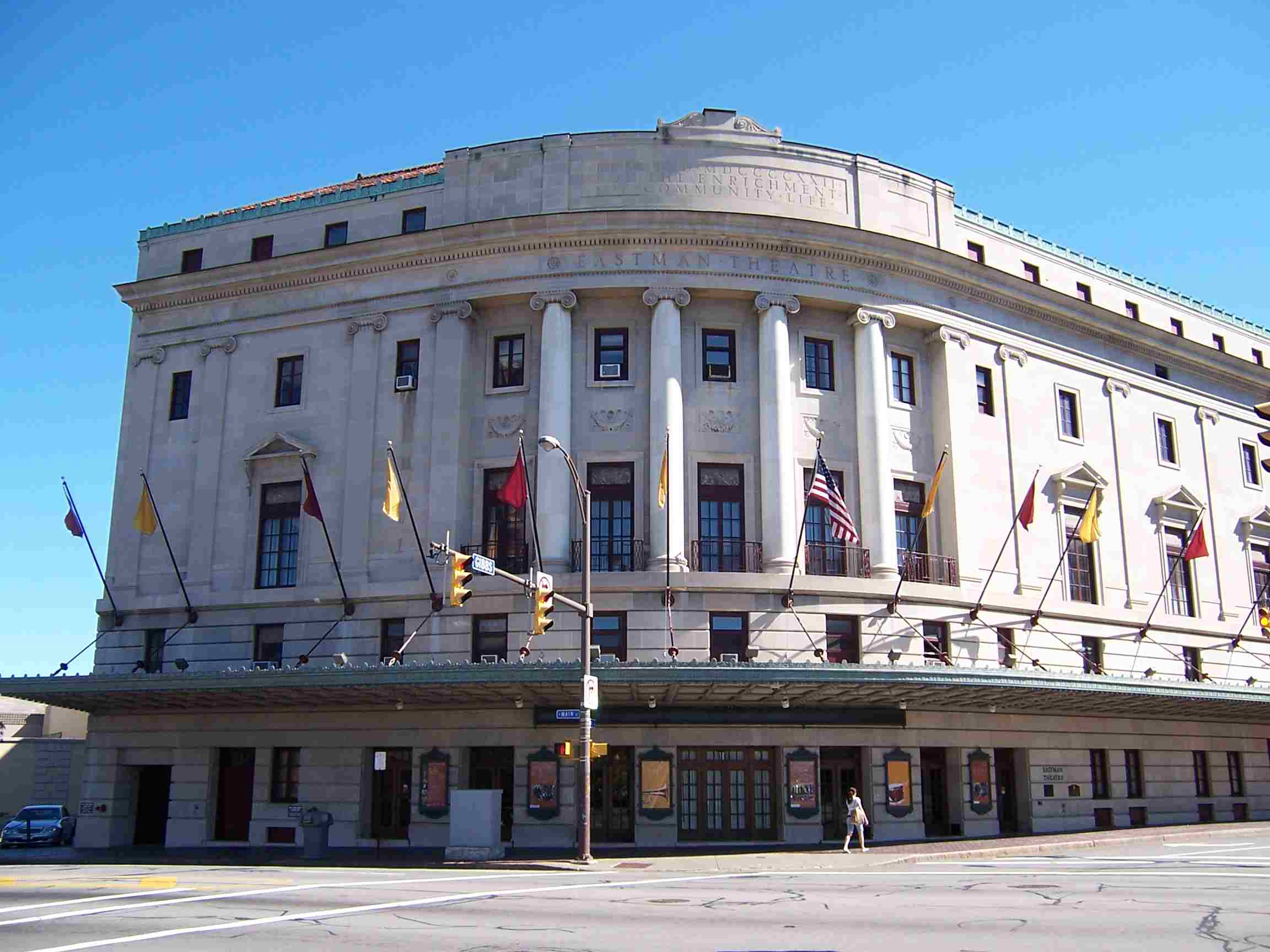 Eastman Theatre, an historic auditorium in Rochester, New York
