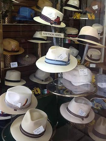 3a482f4cbaf19c A display of summertime Stetsons at Bencraft Hats