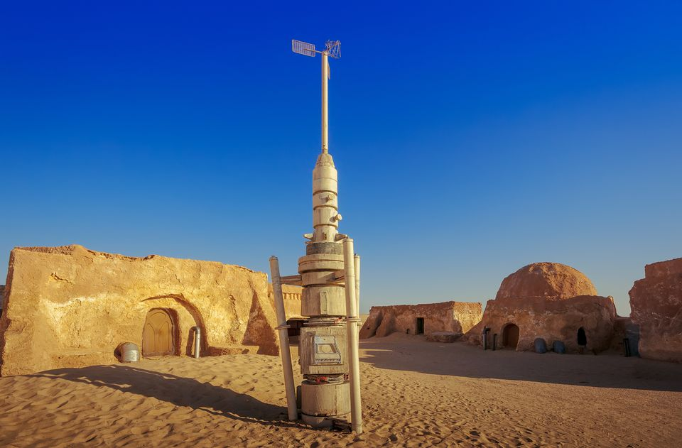 Abandoned Star Wars film set in the Sahara Desert, Tunisia