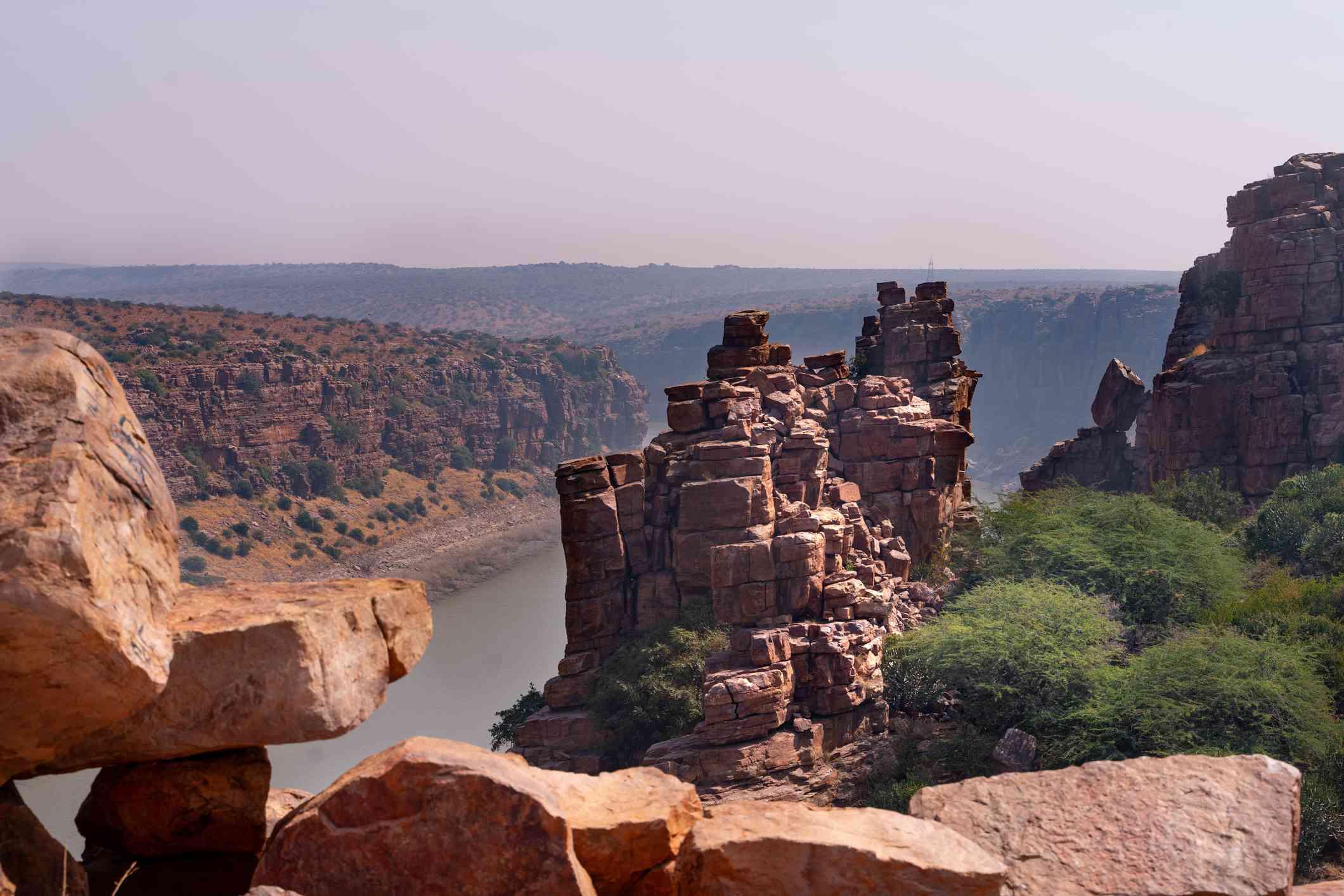 The great canyon in Gandikota
