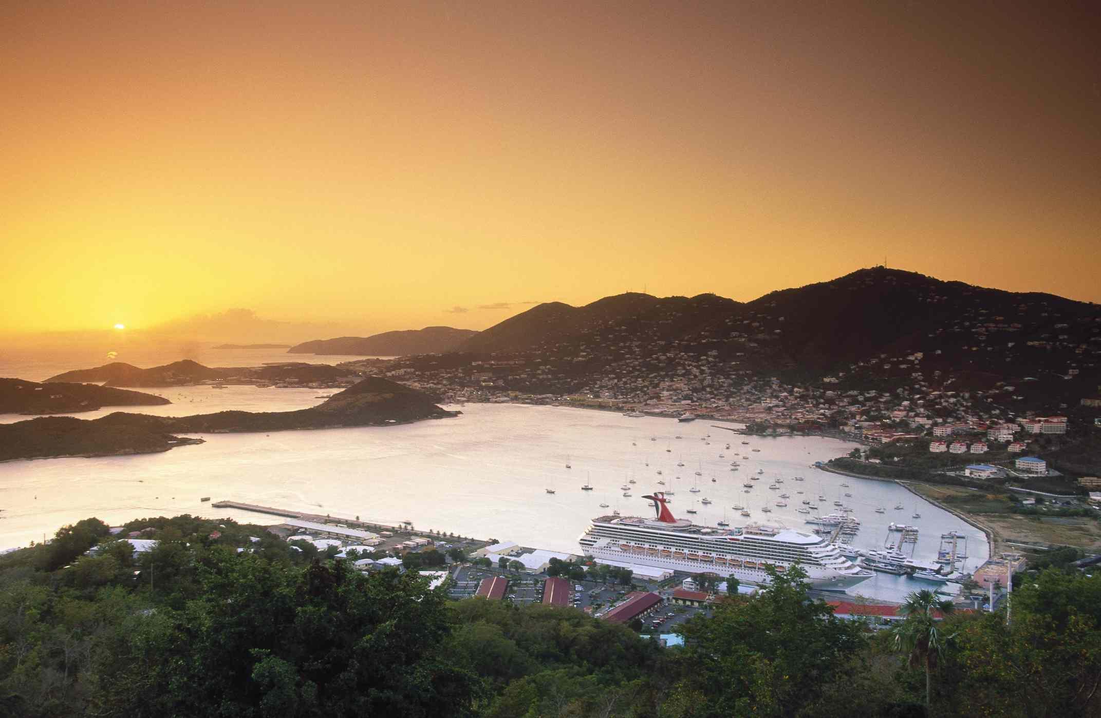 St. Thomas sunset in the harbor of Charlotte Amalie