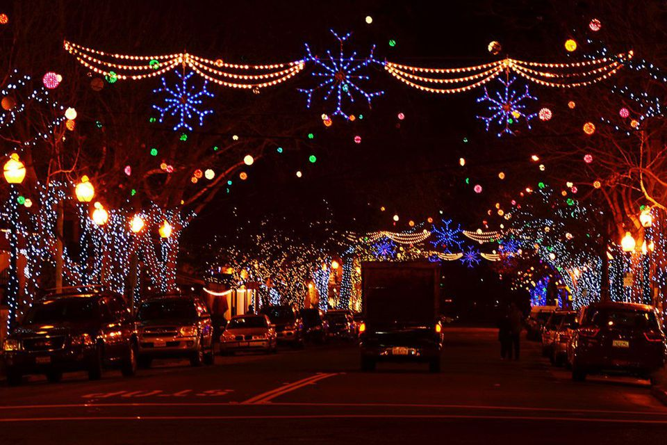 holiday happenings on fourth street in berkeley - Bay Area Christmas Lights