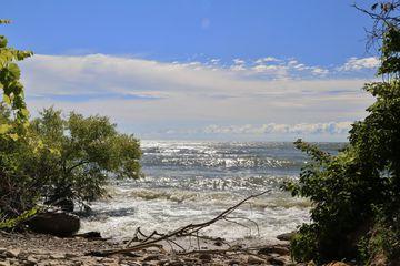 Scenic view at the Lake Shore, Kelleys Island, Ohio, USA