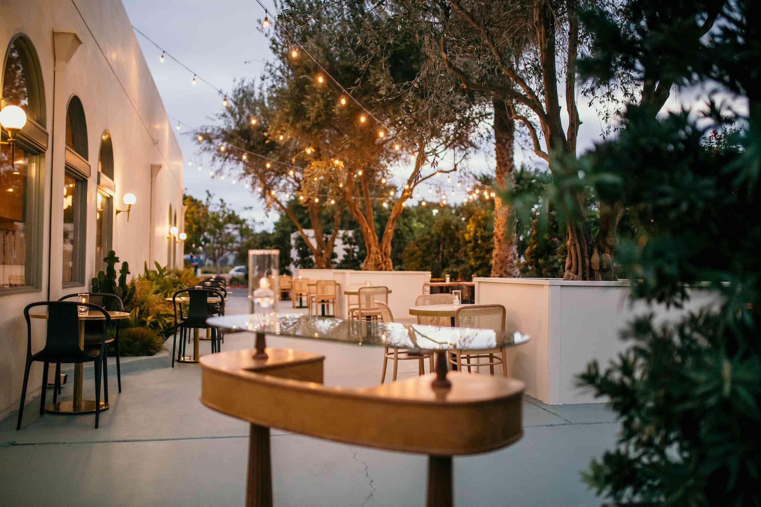 New patio at Jeune Et Jolie
