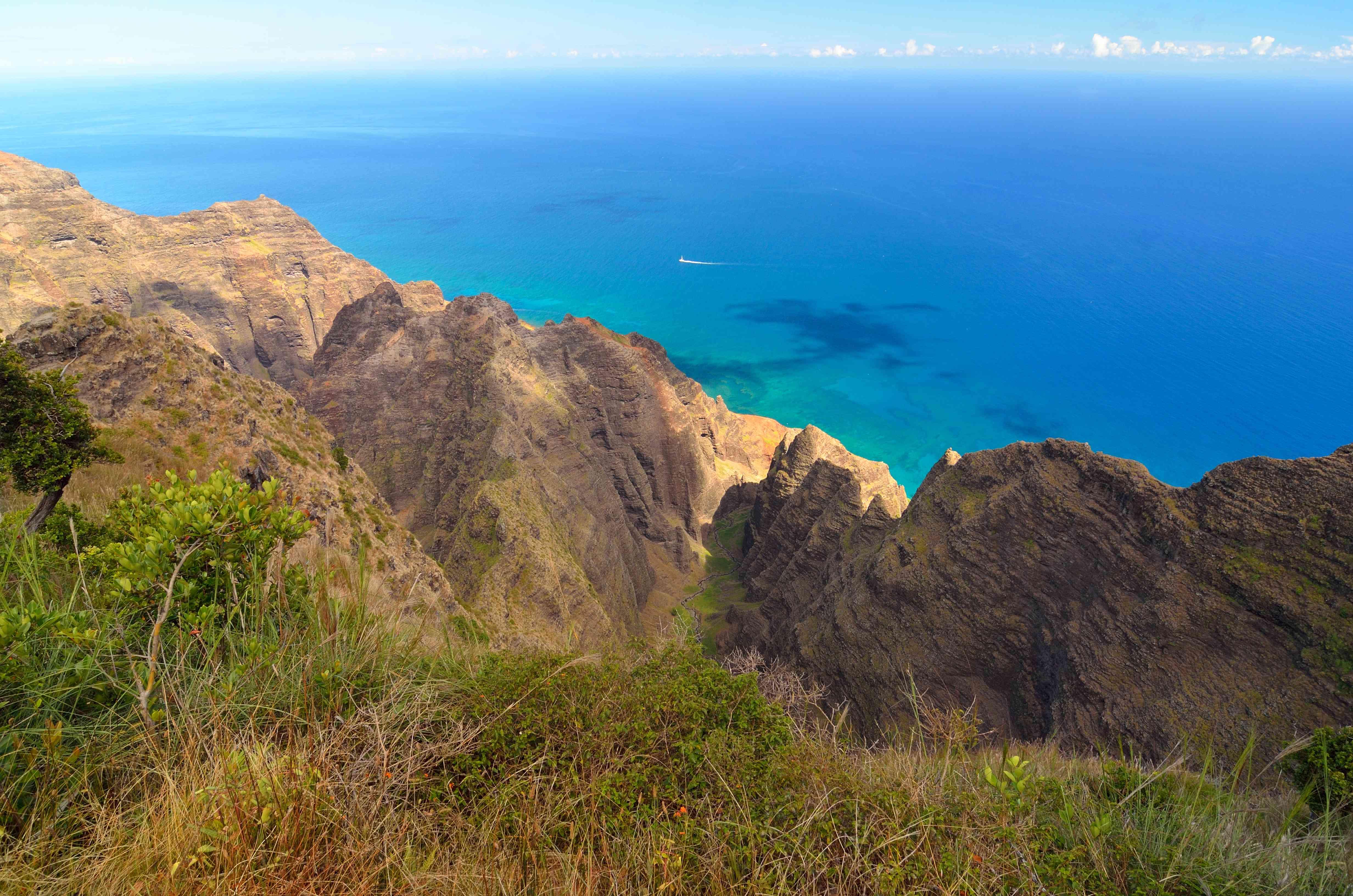 Napali coast from Awa'awapuhi Trail, Kauai, Hawaii