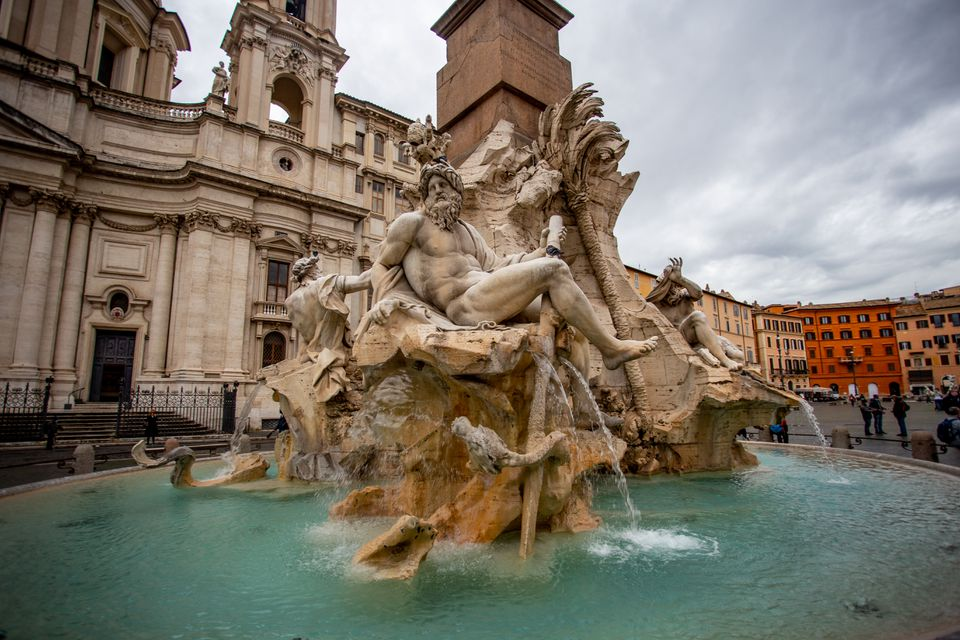 Bernini Fountains in Rome, Italy