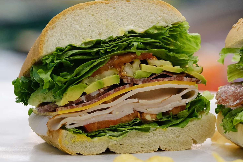 Sandwich from Bruno's Deli in Carmel California