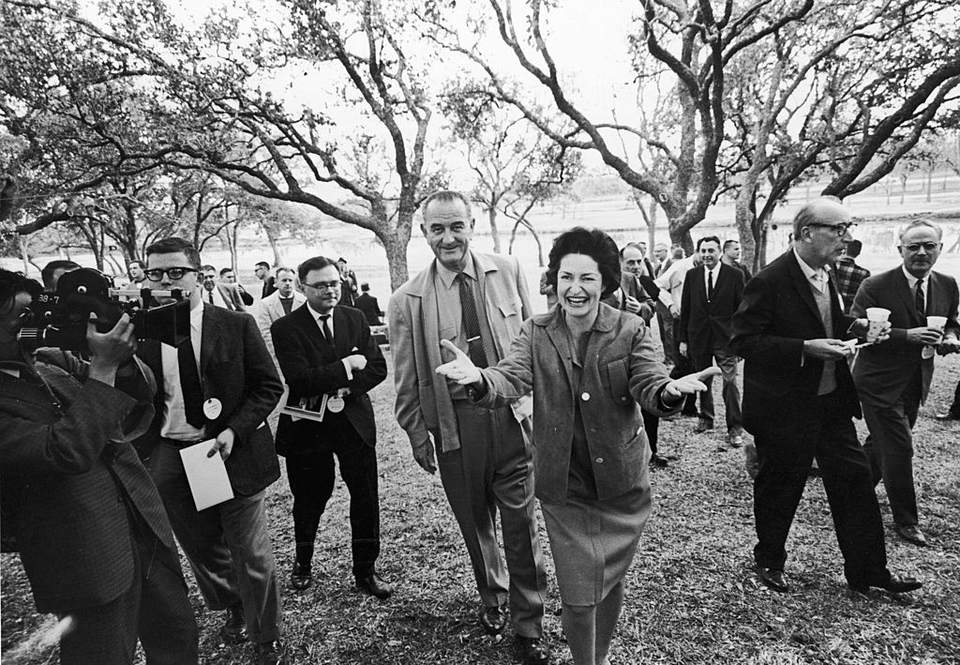 LBJ and Lady Bird at the ranch