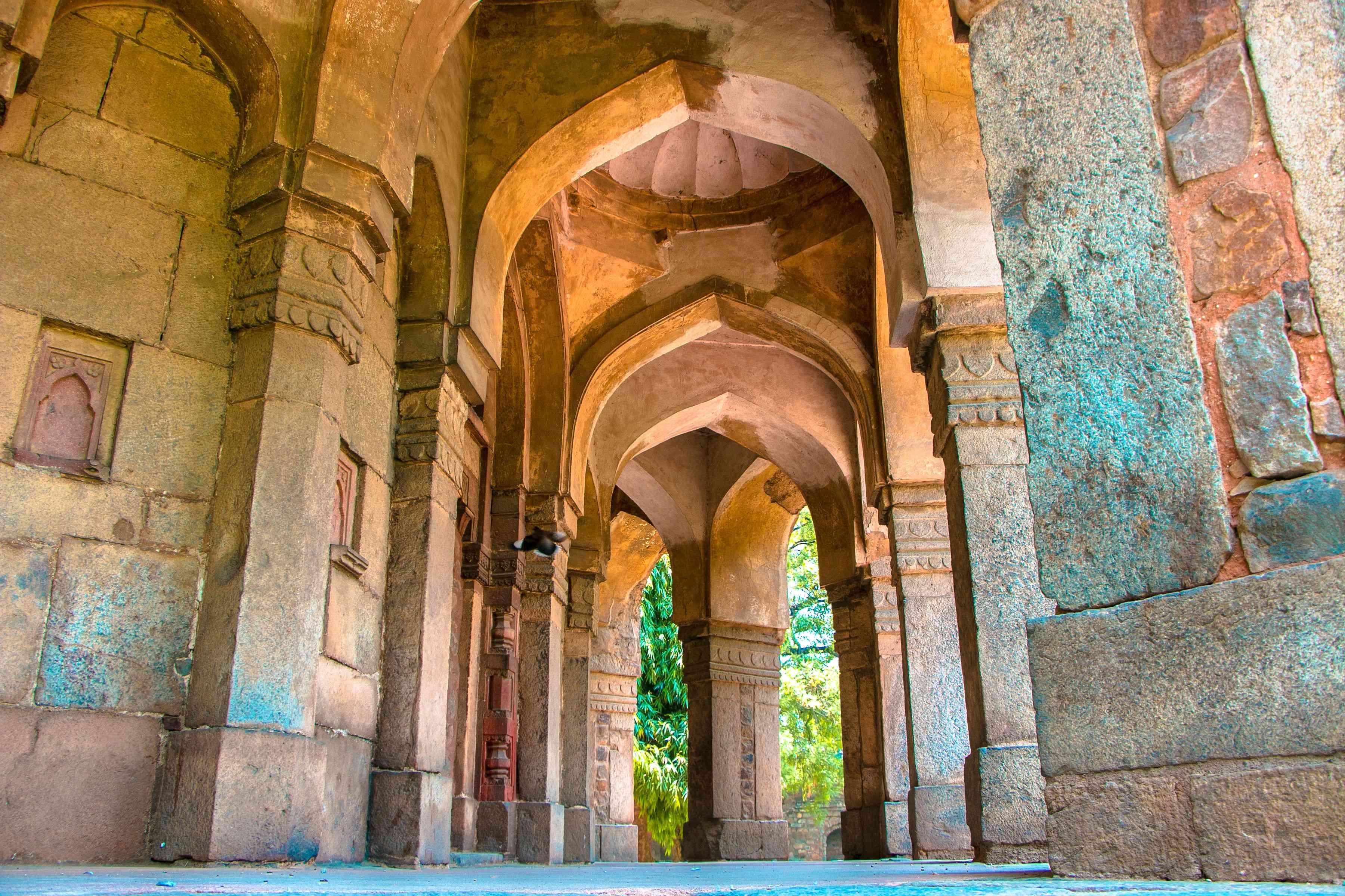 Gateway and Mosque in Lodhi Garden