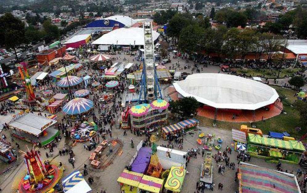 Fairground at the Gran Feria de Tlaxcala
