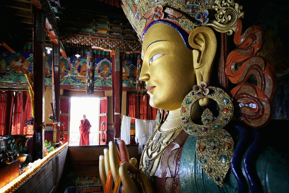 10 Mindblowing Buddhist Monasteries in India
