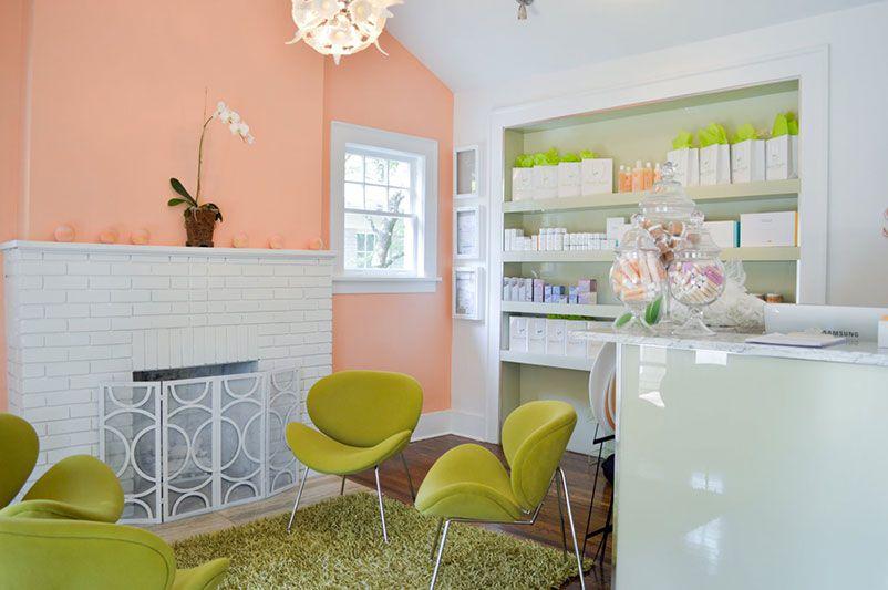 Interior of Sweet Peach Wax & Sugaring Studio