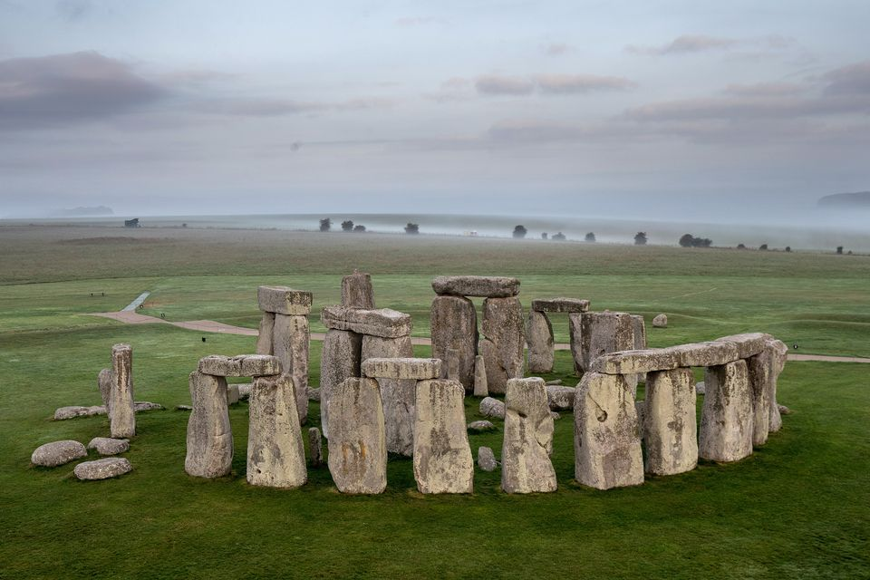 Stonehenge visto desde un globo de aire caliente
