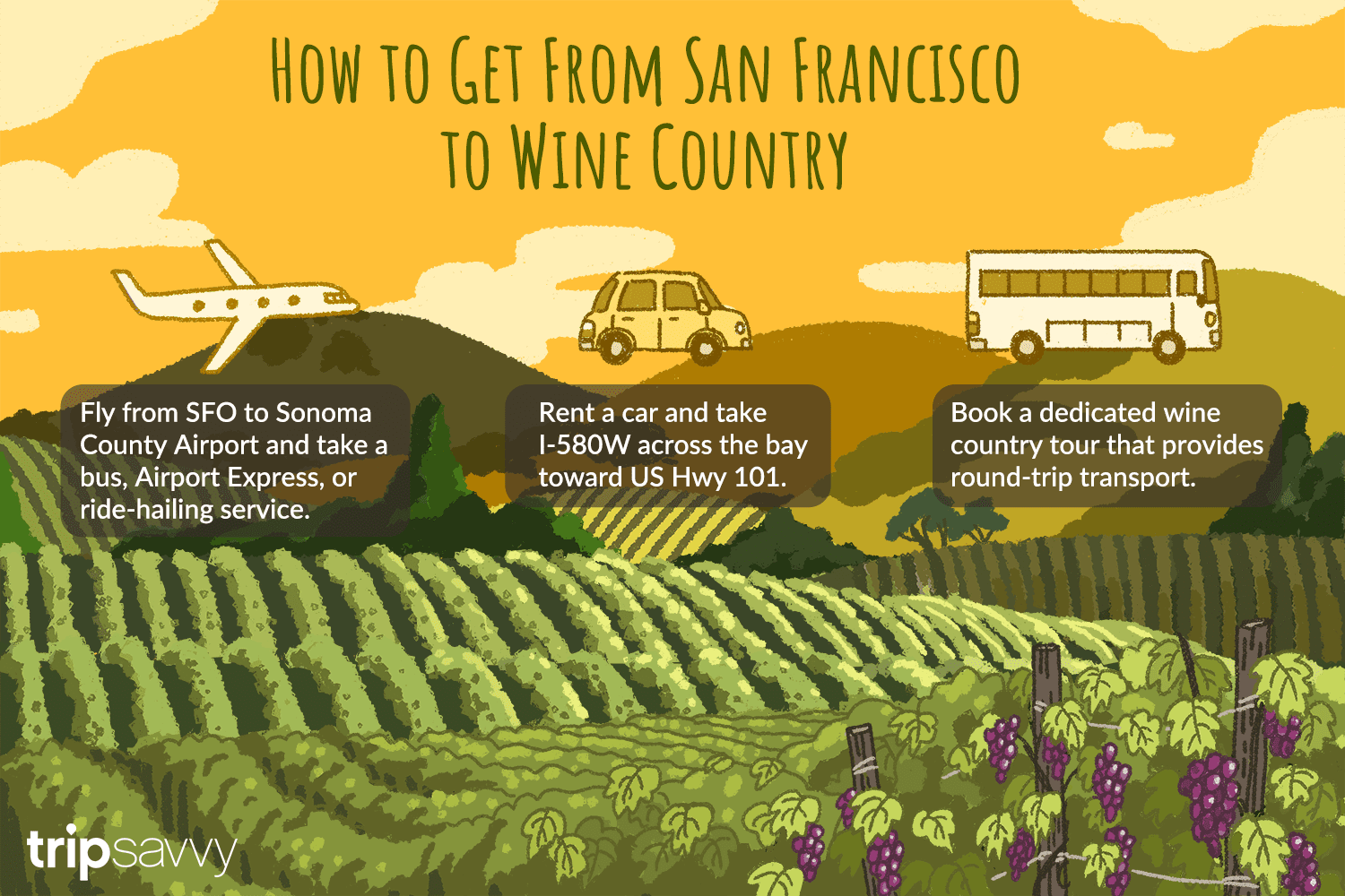 how to get from san francisco to wine country