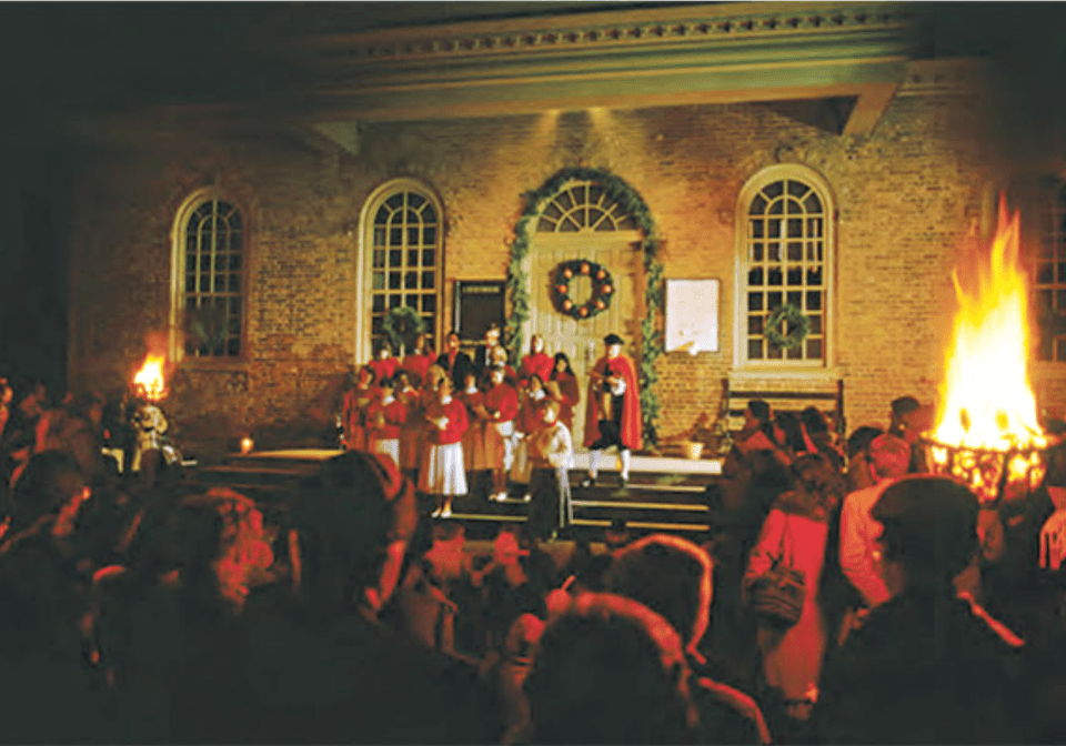 Christmas Carolers in Colonial Williamsburg