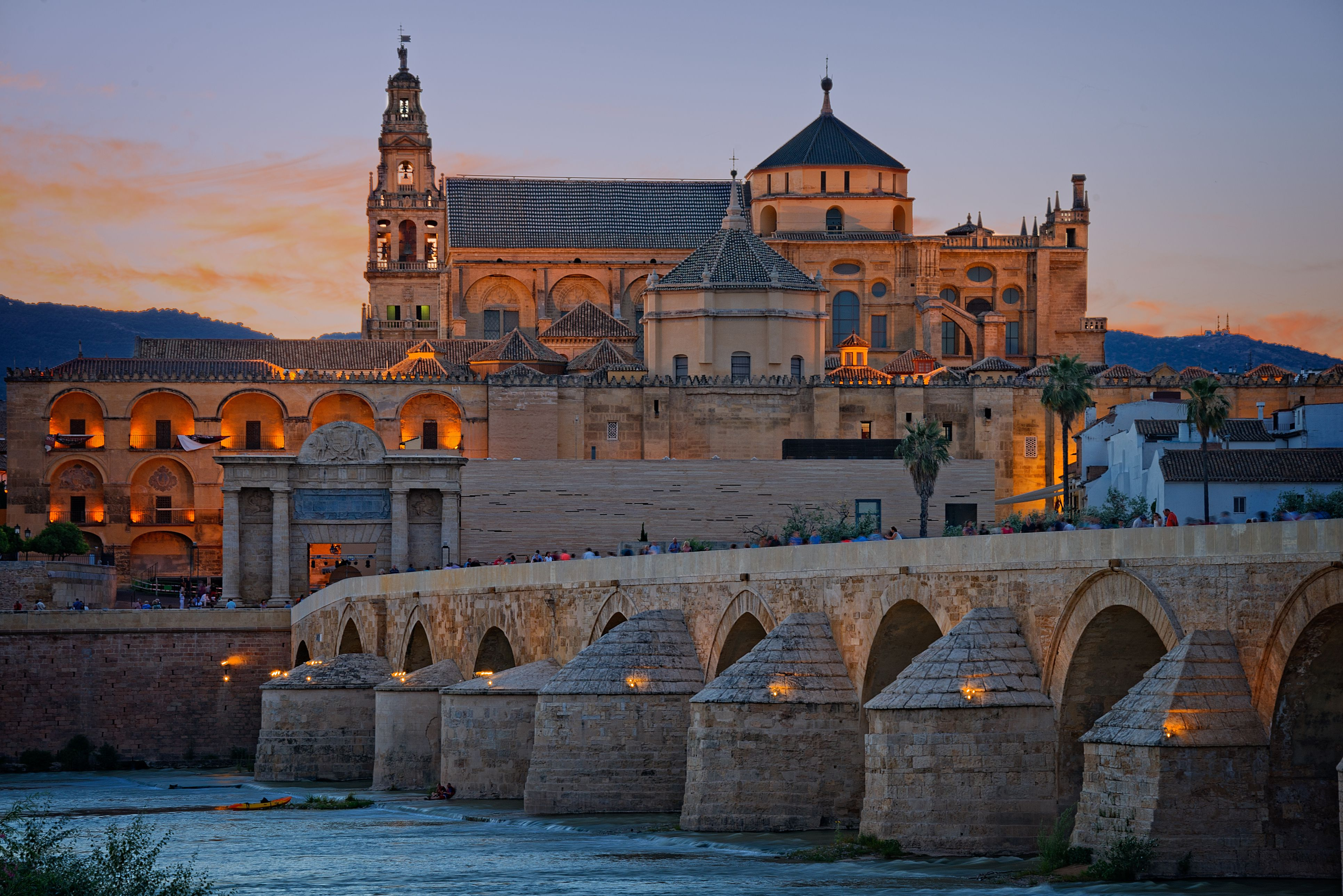 Twilight view of Great mosque of Cordoba