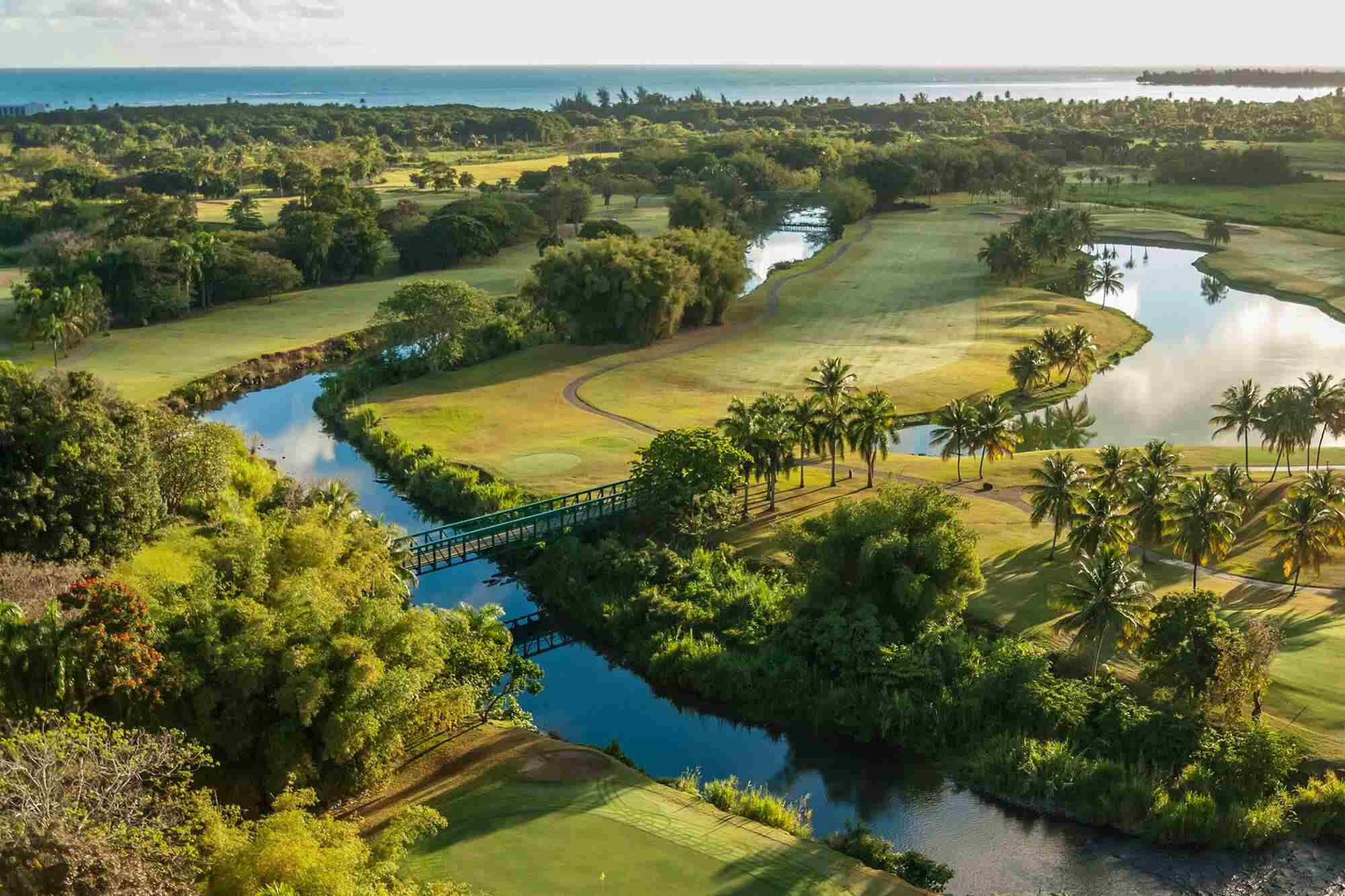 Aerial view of the Wyndham Grand Rio Puerto Rico Golf & Beach Resort
