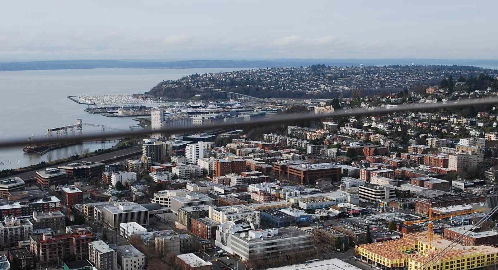 From the Space Needle: Seattle Center, Lower Queen Anne