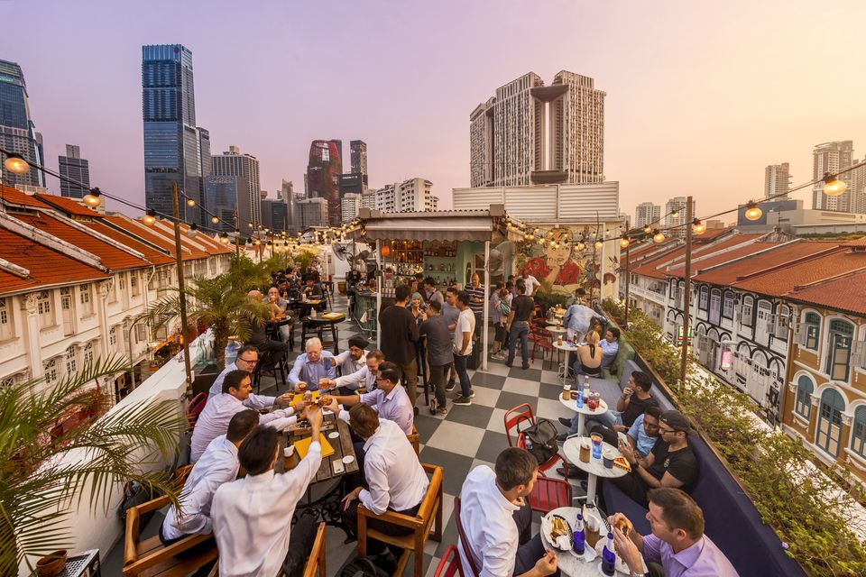 Rooftop bar in Chinatown, Singapore