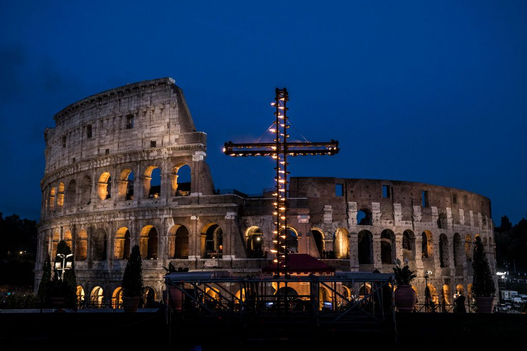 Stations of the Cross at the Colosseum