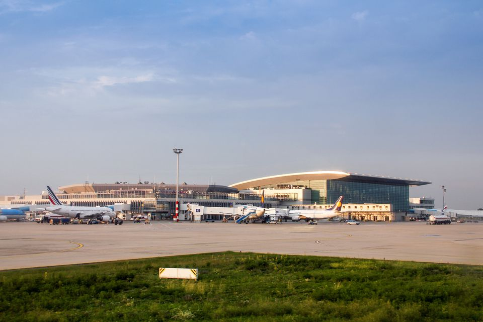 Outside view from the Budapest Ferenc Liszt International Airport
