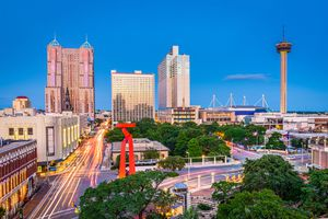 San Antonio, Texas skyline at dusk