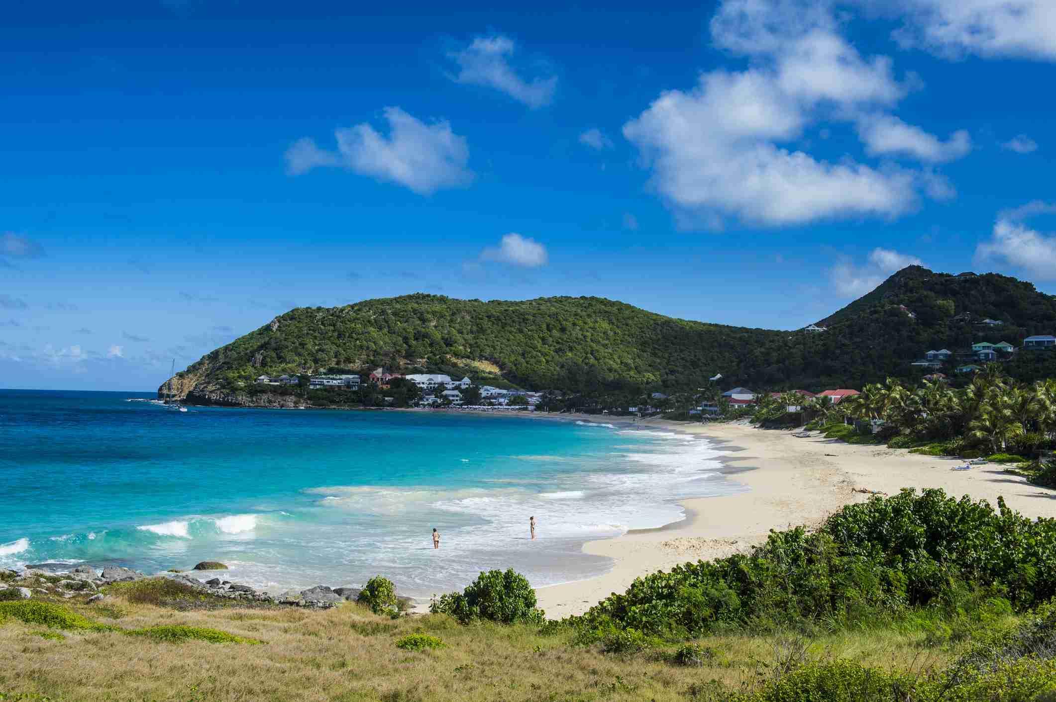 Udsigt over Flamand Strand, St. Barth (Saint Barthelemy), små Antiller, Vestindien, Caribien, Mellemamerika