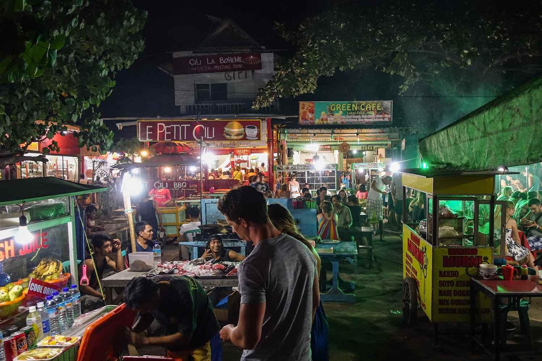 Night Market on Gili Trawangan, Indonesia