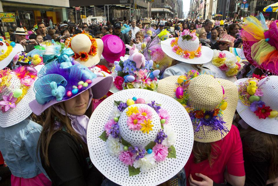 Annual Easter Parade Held on New York 5th Avenue